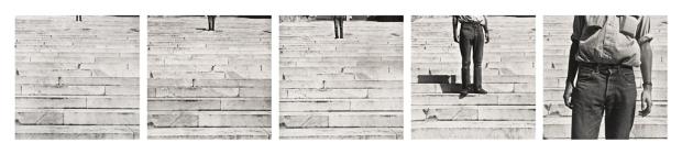 CY_98.297.A-E - Cy + Roman Steps - Rauschenberg - 1953 - SFMOMA