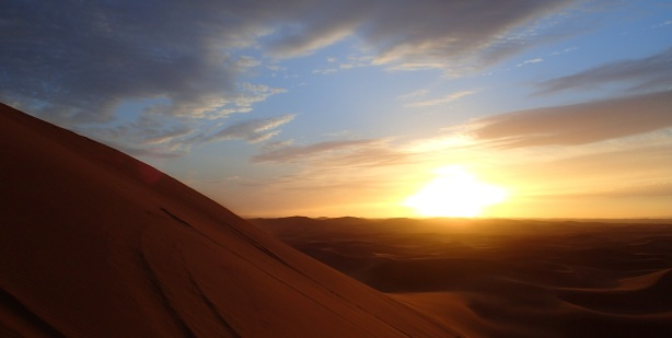 Alli Burness - Sunset - Morocco Sahara - Sand dunes - October 2013