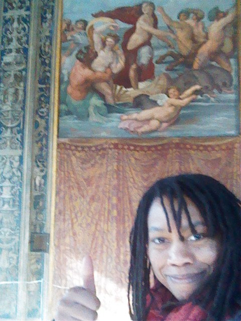 Auriea Harvey at the Farnesina