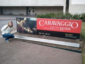 Monica Bowen Outside Caravaggio Show Kimbell Art Museum