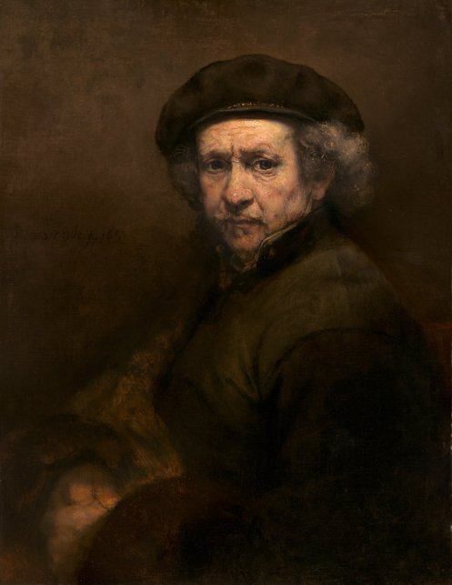 "Rembrandt van Rijn, ""Self-Portrait,"" 1659, oil on canvas, National Gallery of Art DC"